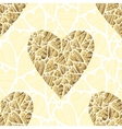 seamlessly golden hearts on white background vector image vector image