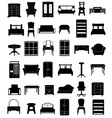 set icons furniture 06 vector image