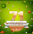 seventy one years anniversary celebration design vector image vector image