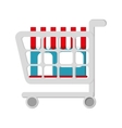 shopping cart buy store icon vector image vector image