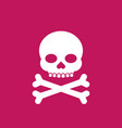 skull and bones sign vector image vector image