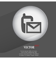 sms Flat modern web button with long shadow and vector image