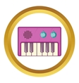 Synth icon vector image vector image