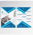 template flyer design vector image