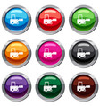 truck to lift cargo set 9 collection vector image vector image