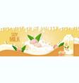 vegan plant based soy milk with splashing liquid