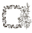 vintage floral decorative background vector image vector image