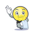 waiter light bulb character cartoon vector image vector image