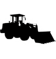 wheeled loader silhouette vector image vector image
