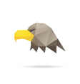 Eagle head abstract isolated vector image