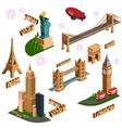 Famous building set vector image