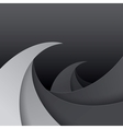 Swirly black and grey paper waves background vector image