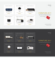 2 banner furniture sale design template vector image vector image
