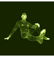3D Model of Man Human Body 3d Covering Skin vector image