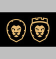 a lion with crown and without two options vector image