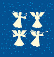 a set of angels vector image vector image