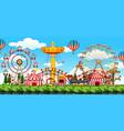 a theme park scene vector image