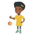 african-american girl playing with yo-yo vector image vector image