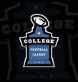 american football college league logo on a dark vector image vector image