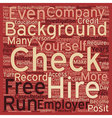 Background Checks A Detailed Guide text background vector image vector image