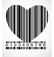 Barcode Heart Image vector image