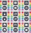 Battery Message Printer Flag tower Gallery Monitor vector image vector image