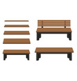 benches isolated on white background vector image vector image
