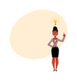 black african american businesswoman having idea vector image vector image