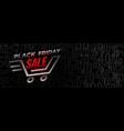 black friday shopping sale and discount banner vector image