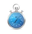 Blue stopwatch vector image