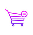 buy cart minus remuve shop store icon vector image vector image