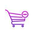 buy cart minus remuve shop store icon vector image