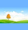 cartoon autumn nature vector image vector image