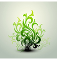 Clean Floral Background vector image