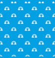 cloud rainbow pattern seamless blue vector image