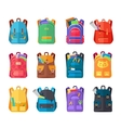 Colored School Backpacks Set vector image vector image