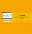 creative of forex trading vector image