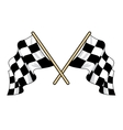 Crossed waving motor sport flags vector image vector image