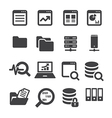 data icon set vector image