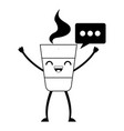 delicious coffee kawaii character vector image
