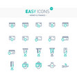easy icons 12e money vector image vector image