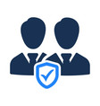 employees security icon vector image vector image