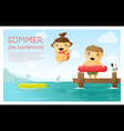 Enjoy tropical summer holiday background 3 vector image