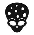 Extraterrestrial alien head icon simple style vector image vector image