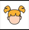 face baby girl avatar icon vector image
