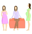 Fashion for pregnant women vector image vector image