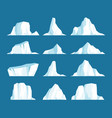 floating icebergs vector image