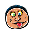 Foolish cartoon face vector image vector image