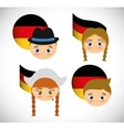 German person in traditional dress vector image