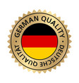 german quality gold vector image